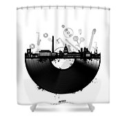 Washington Dc Skyline Vinyl Shower Curtain