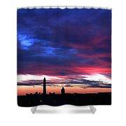 Washington Monument Dramatic Sunset Shower Curtain