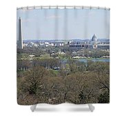 Washington Dc View From Custis Lee House Shower Curtain