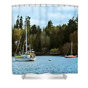 Washington Harbor Shower Curtain