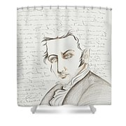 Washington Irving Shower Curtain