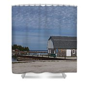 Washington Island Harbor 1 Shower Curtain