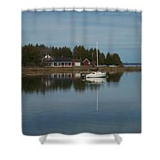 Washington Island Harbor 3 Shower Curtain