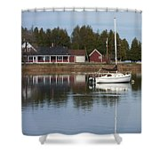 Washington Island Harbor 4 Shower Curtain