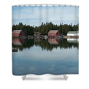 Washington Island Harbor 5 Shower Curtain