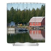 Washington Island Harbor 6 Shower Curtain