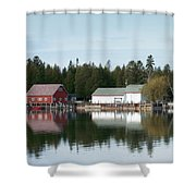 Washington Island Harbor 7 Shower Curtain