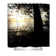 Washington Island Morning 1 Shower Curtain