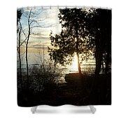 Washington Island Morning 2 Shower Curtain
