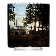 Washington Island Morning 3 Shower Curtain