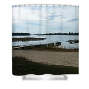 Washington Island Shore 2 Shower Curtain