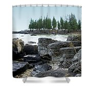 Washington Island Shore 3 Shower Curtain