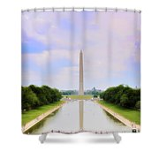 Washington Monument And Reflecting Pool Shower Curtain