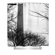 Washington Monument Bw Shower Curtain
