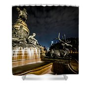 Washington Monument Fountain Shower Curtain