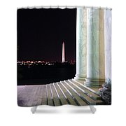Washington Monument From Stairs Of Jefferson Shower Curtain