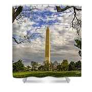 Washington Monument From The Mall Shower Curtain