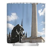 Washington Monument In Baltimore Shower Curtain