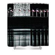 Washington Monument Reflections Shower Curtain