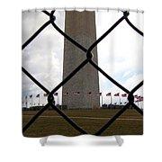 Washington Monument Through Fence Shower Curtain