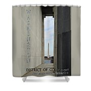 Washington Monuments Travel Shower Curtain