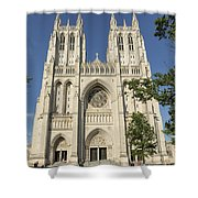 Washington National Cathedral Front Exterior Shower Curtain
