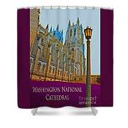 Washington National Cathedral Travel Shower Curtain