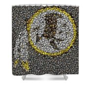 Washington Redskins Coins Mosaic Shower Curtain