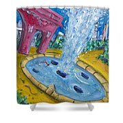 Washington Sqaure Park Shower Curtain