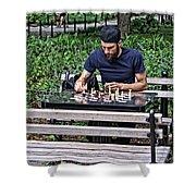 Washington Square Park Chess Man Shower Curtain
