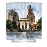Washington Square Park Greenwich Village New York City Shower Curtain