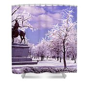 Washington Square Park Shower Curtain by Steve Karol