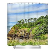 Washington State Coastline Shower Curtain