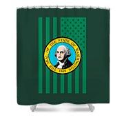 Washington State Flag Graphic Usa Styling Shower Curtain