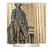 Washington Statue - Federal Hall  #1 Shower Curtain