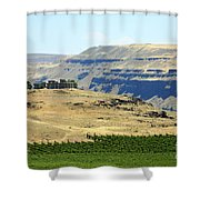 Washington Stonehenge With Vineyard Shower Curtain