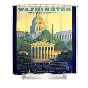 Washington The City Beautiful  Shower Curtain