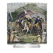 Washington: Trenton, 1789 Shower Curtain