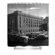 Washington Water Power Post Street Station - Spokane Washington Shower Curtain by Daniel Hagerman