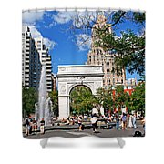Washingtone Square New York Shower Curtain