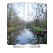 Washingtons Crossing - Along The Delaware Canal Shower Curtain