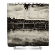 Washingtons Crossing Bridge Shower Curtain