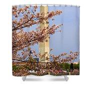 Washinton Monument In Spring Shower Curtain