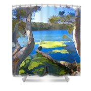Wat-0002 Avoca Estuary Shower Curtain