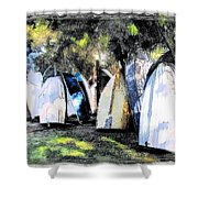 Wat-0008 Boat Hire Shower Curtain