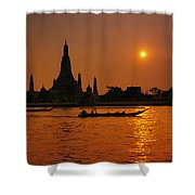 Wat Anun Temple Shower Curtain