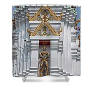 Wat Apson Sawan Phra Chedi Guardian Giant Dthb1922 Shower Curtain
