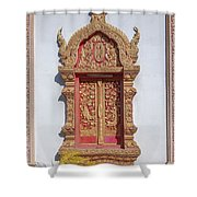 Wat Buppharam Phra Wihan Window Dthcm1581 Shower Curtain