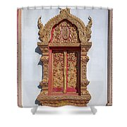 Wat Buppharam Phra Wihan Window Dthcm1582 Shower Curtain