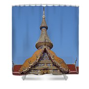 Wat Chaimongkron Phra Wihan Gable And Spire Dthcb0090 Shower Curtain
